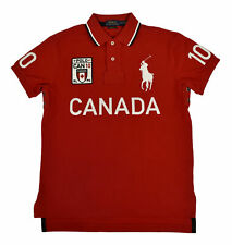 New Polo Ralph Lauren Big Pony Red Canada Flag  Men Shirt L Large  Custom FIT