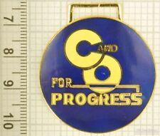 Sturdy key chain with a gold-plated & blue Chesapeake & Ohio Railroad shield