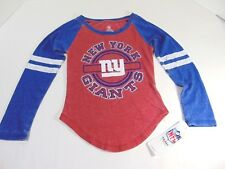 d322b0888 Girl s NFL NY Giants Red   Blue Rustic LOOK Long Sleeve Shirt Size ...