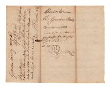 Percival Butler Kentucky Revolutionary War Hero 1715 Autograph Document!  Rare!