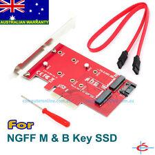 M.2 NGFF Both B & M Key SSD to PCI-E PCIE SATA III 3 Adapter Converter, All OS