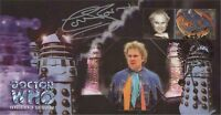 """Doctor Who """"Revelation Of The Daleks"""" Collectable Stamp Cover Signed COLIN BAKER"""