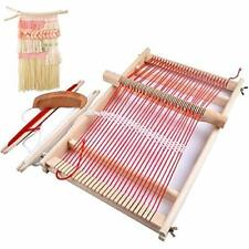 Mikimiqi Wooden Multi-Craft Weaving Loom Large Frame 9.85x 15.75x 1.3inches to