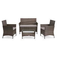 SVITA BROOKLYN Polyrattan Sitzgruppe Balkon Rattan Lounge Gartenmöbel Set braun