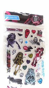 Monster High Birthday Party Large Puffy Sticker Sheet