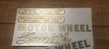 Smith Motor Wheel decals Early Briggs & Stratton Flyer Set of 5