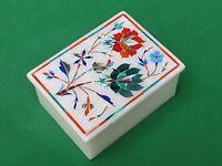 Marble Jewelry Box Inlay Pietra dura beautiful Handmade arts and crafts Gifts