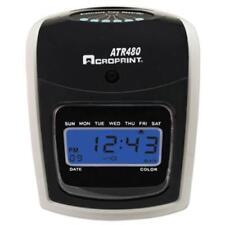 Acroprint Time Recorder 01-0285-001 Atr480 Time Clock Bundle, Lcd, Automatic,