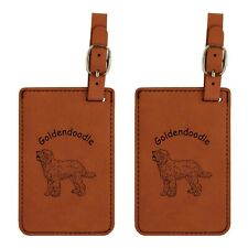 L3239 Goldendoodle Luggage Tags 2Pk Free Shipping 200 Breeds Available