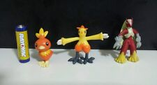 Generation 3 pokemon plastic action figure set lot of Torchic Combusken Blaziken