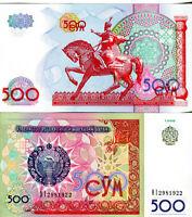 500 Usbekistan  Pounds Sum Banknote 1999 UNC.