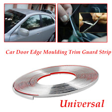 1PC Universal 12.5m Chrome 3M Adhesive Car Door Edge Moulding Trim Guard Strip