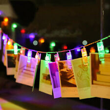 10 LED Wedding Photo Peg Clip Fairy String Light Hanging Picture Party Decor DIY