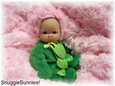 "LIL BABY PINK ROSEBUD OUTFIT FITS 5-6"" BERENGUER REBORN OOAK BABY DOLL !"