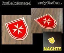 Malteser Logo 3D Aufkleber, reflektierend