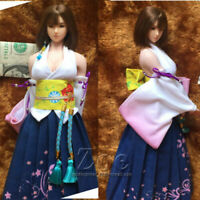 "Final Fantasy 1:6 Yuna Kimono Clothes Fit 12"" TBLeague Phicen JO Figure Body"