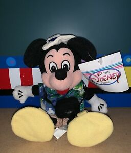 Disney Store Tourist Mickey Mouse Vintage Plush Doll With Tags.