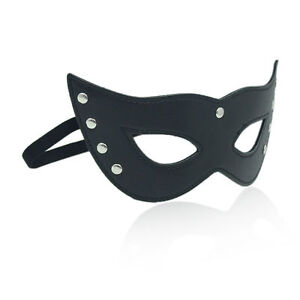 PVC Leather Cat Eye Eyeshield Studded Masquerade For Halloween Fancy Dress Party