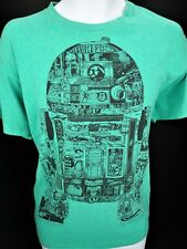 Large Star Wars T Shirt Tee Memory Storage Data R2D2 The Force