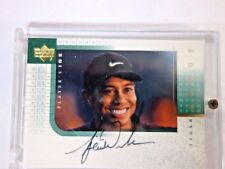 2001 TIGER WOODS UPPER DECK PLAYERS INK CARD