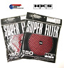 Pair of HKS 150mm Air Filter Elements RED - Fits R34 Skyline GTR RB26DETT