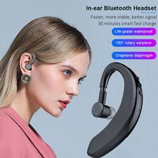 Bluetooth5.0 Headset Wireless Single Ear Hook Earphone For iPhone Samsung Huawei