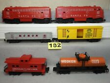 AMERICAN FLYER S SCALE #20201 DIESEL LOCOMOTIVE FREIGHT TRAIN SET EXCELLENT O.B.
