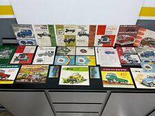 Lot 25 Vintage Original 1950s JEEP & WILLYS Car Dealer SALES BROCHURE Catalog