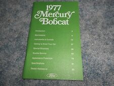 VINTAGE 1977 MERCURY BOBCAT OWNER's MANUAL : NICE ORIGINAL FACTORY OEM