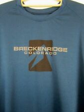 Breckenridge Colorado Size Large Teal T-shirt  Short Sleeve Outfitter Trading Co