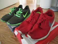 PRE OWNED NIKE ROSHE & FREE RUN 3 LOT OF 2 ATHLETIC SHOES SNEAKERS SB RUNNES 12