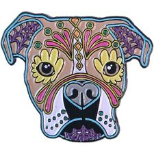 Boxer Sugar Skull Dog Enamel Pin Lapel Bag New Cali Pretty In Ink