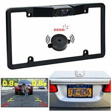 Car License Plate Frame Backup Camera Radar Sensor Reverse Rear View Parking Kit