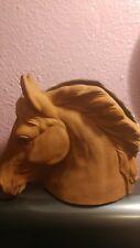 Napco Horse Head Planter Vase Brown Ceramic Vintage Imported