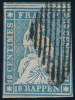 SCHWEIZ 1855, MiNr. 14 II A zm, sauber gestempelt, Befund Hermann, Mi. 900,-