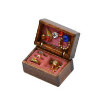 1:12 Dollhouse Miniature Wooden Jewelry Box Bedroom Accessories Mini Decor DD