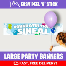 Balloons Personalised Birthday Party Banners (110cm x 21.5cm) Design Service