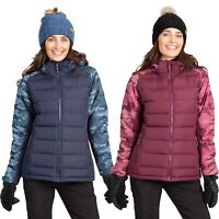 Trespass Womens Ski Jacket Windproof Padded Snow Coat With Hood For Ladies