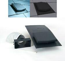 10K Slate Roof  Vent Ventilator Tile & Adaptor Kit For Extractor fan, Soil Pipe