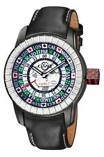 Gv2 By Gevril Men's 9308 Lucky 7 Automatic Black Leather Wristwatch