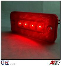 10 PC 24V 24 VOLT ROSSO MARCATORE TAIL REAR SIDE 4 LED Luce Indicatore Riflettore NUOVO