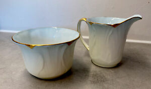 Vintage Shelley Dainty Pale Blue Sugar Bowl and Milk/Cream Jug. Rd.771299