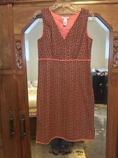 Alexandra Bartlett Womens Peach Brown Floral Eyelet Lined Sheath Dress size 10