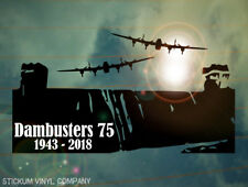Dambusters 75th aniversario Coche Decal/Sticker * WW 2 * Lancaster Bomber * BBMF * 617 *