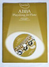 GuestSpot ABBA Playalong for Flute music book - 10 hit songs arr Paul Honey + CD