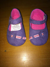 Ladybird Soft Baby/Toddler Pram Shoes Purple Suede  - Up to 6 months