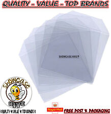 100 x CD DVD BLU RAY Quality Clear Plastic Sleeves Poly Wallets Cover 100 Micron