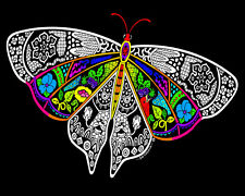 Butterfly - Large 16x20 Inch Fuzzy Velvet Coloring Poster