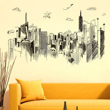 City Vinyl Wall Sticker Cute Dog Wall Decal Art Mural For Home Decor DIY