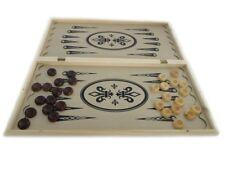 3 in 1 Spiele-Set Schach Dame Backgammon 50x50 cm NARDY TAVLA Nardi Holz Brett